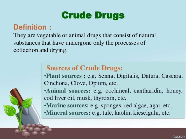 Crude Drugs – Botany Notes – For W.B.C.S. Examination.