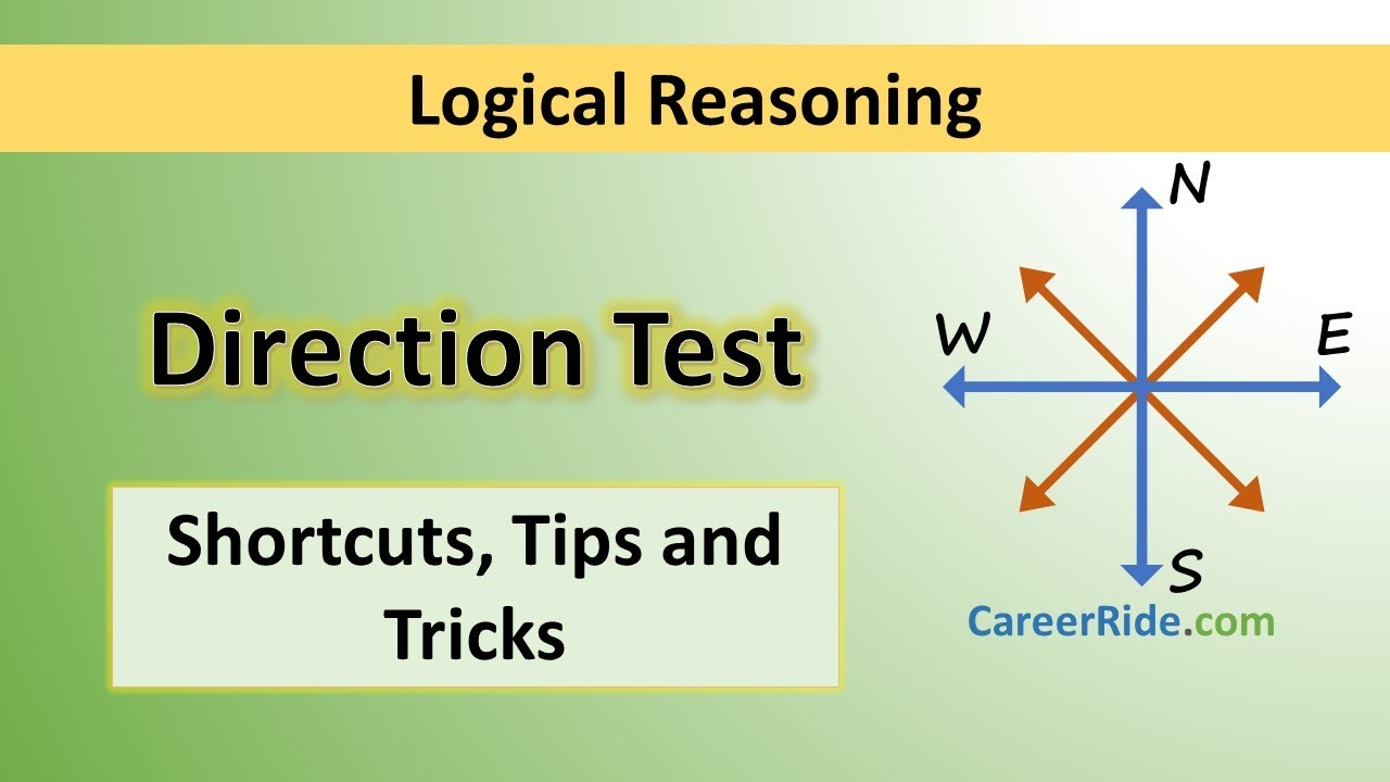Reasoning Notes – On DIRECTION SENSE TEST For W.B.C.S. Examination.