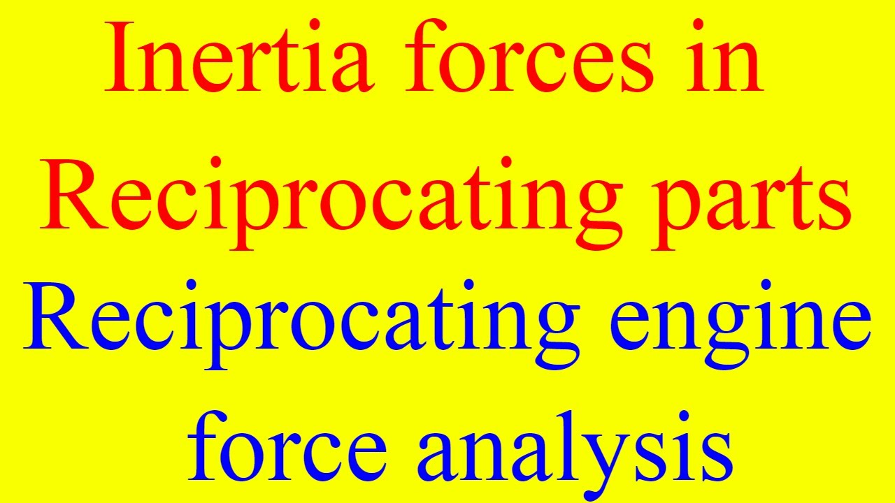 Mechanical Engineering Notes – On Inertia Force Analysis – For W.B.C.S. Examination.