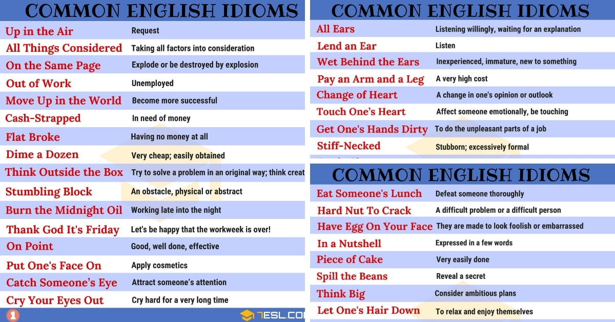 List Of Idioms And Phrases – English Composition Notes – For W.B.C.S. Preliminary Examination.