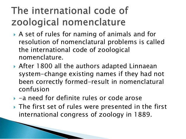 Zoological Nomenclature – Zoology Notes – For W.B.C.S. Examination.