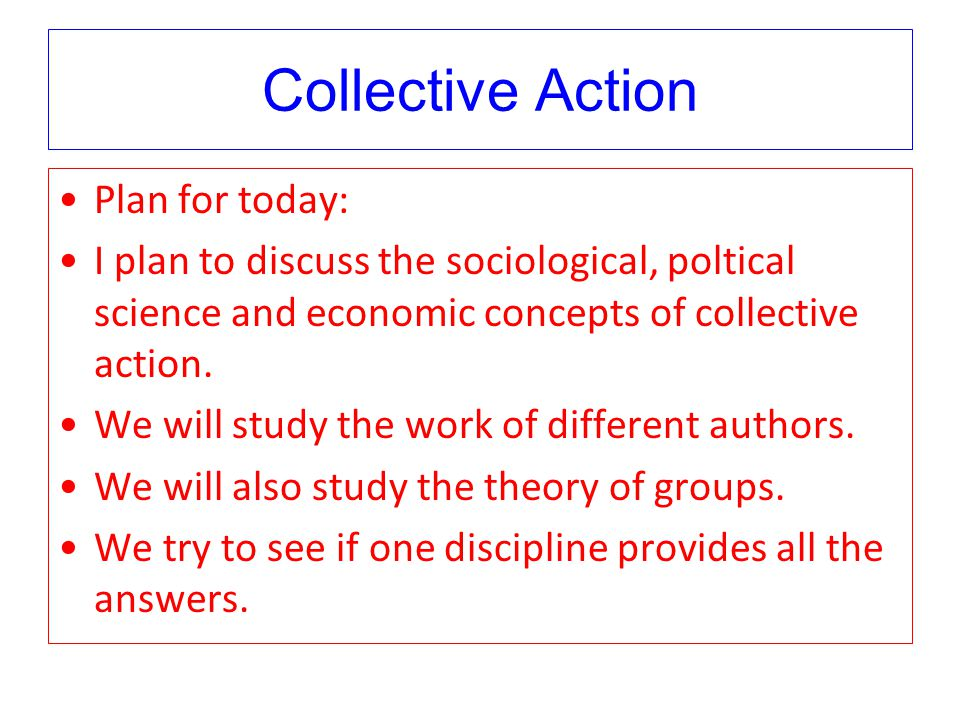 Collective Action – Sociology Notes – For W.B.C.S. Examination.