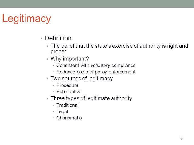 Concept Of Legitimacy – Political Science Notes – For W.B.C.S. Examination.