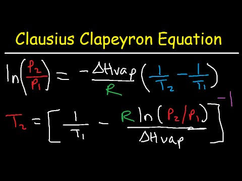 W.B.C.S. Examination Notes On – Chemistry – Clausius-Clapeyron Equation.