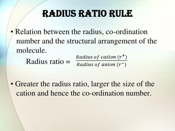 Radius Ratio Rule – Physics Notes – For W.B.C.S. Examination.