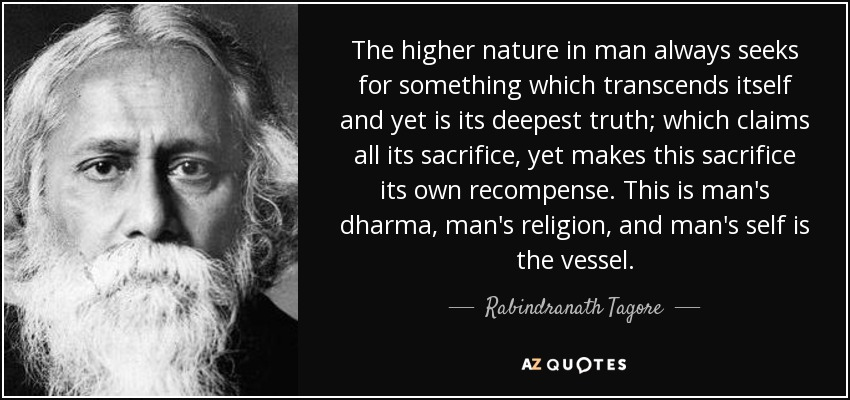 Nature Of Man – Rabindranath Tagore -Philosophy Notes – For W.B.C.S. Examination.