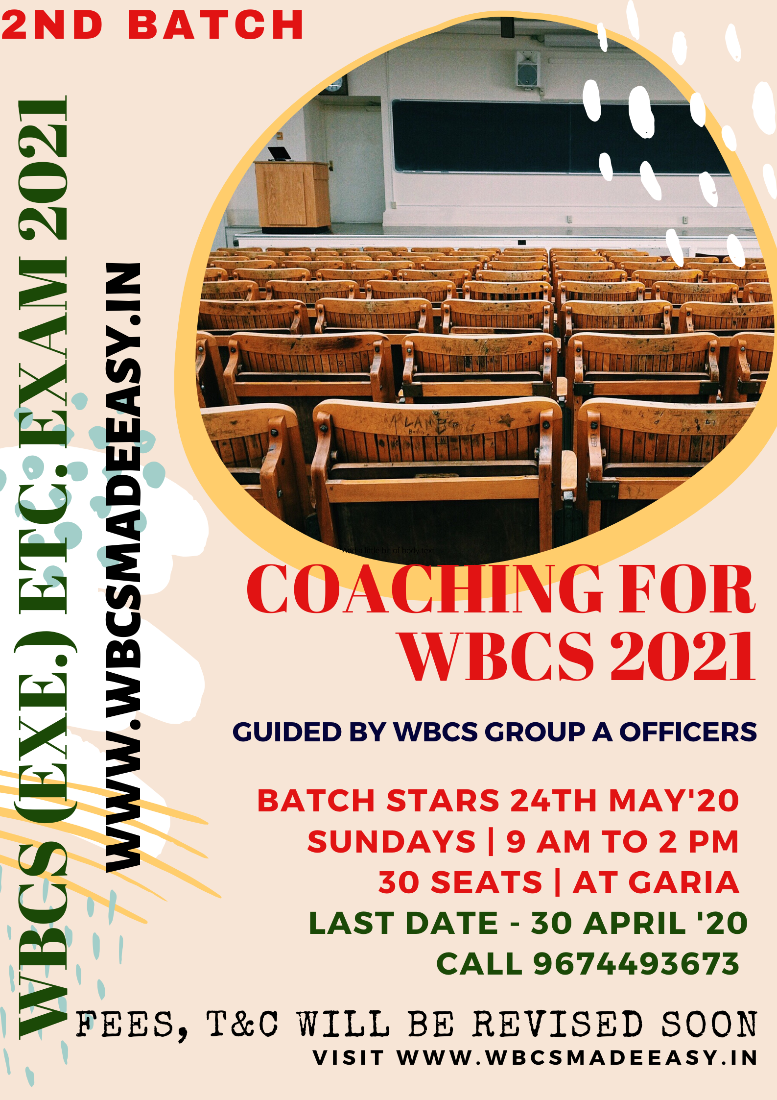 WBCS Exam 2017 Notification with Services Posts