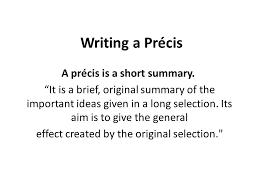 How To Write A Good Preci – For W.B.C.S. Examination.