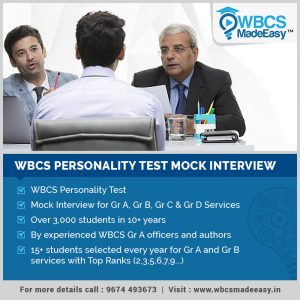 WBCS Mock Interview Personality Test