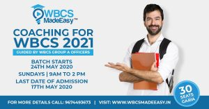 WBCS Prelims Mains Interview Foundation Course 2021