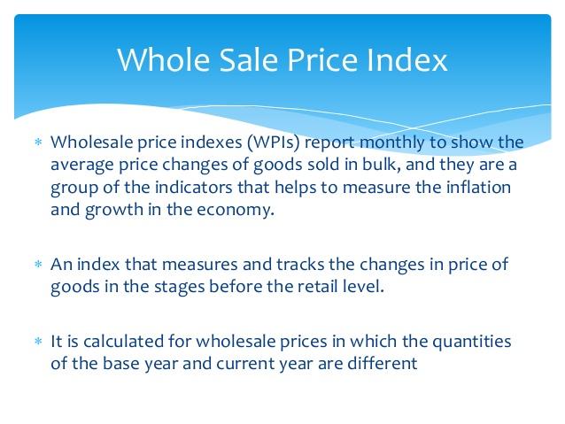 Wholesale Price Index (WPI) – Important Concept Of Economy – W.B.C.S. Exam.