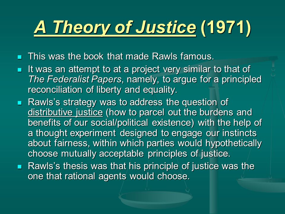 Rawls's Concept Of Social Justice – Philosophy Notes – For W.B.C.S. Examination.