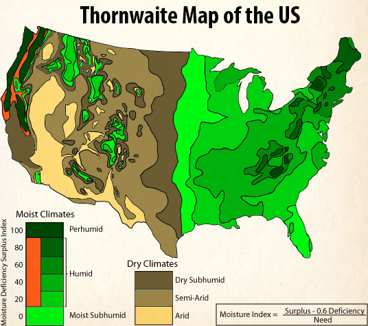Thornthwaite Climate Classification – Geography Notes – For W.B.C.S. Examination.