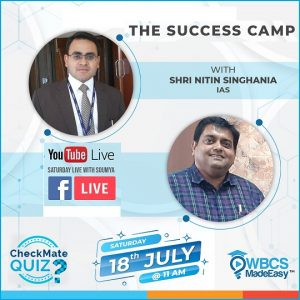 Saturday Live With Soumya – Episode 13 – Topic – GS Subjects Of WBCS And IAS Exam, Their Syllabus  Strategy Motivation With Nitin Singhania IAS Sir