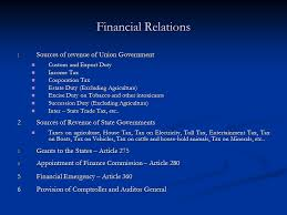 Law Notes On – Financial Relation Between The Union And The States – For W.B.C.S. Examination.