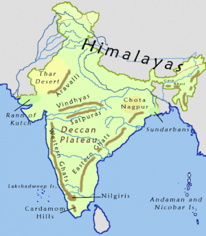 Relief Feature Of Peninsular India – Geography Notes – For W.B.C.S. Examination.