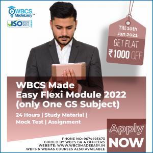 West Bengal Civil Service Flexi Module Course Guidance Course Any GS Subject