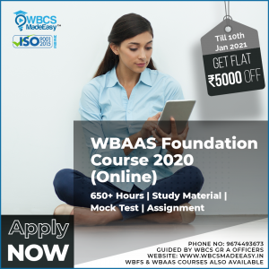 West Bengal Audit And Accounts Service Online  Foundation Course