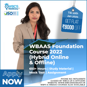 West Bengal Audit And Accounts Service Online And Offline Foundation Course