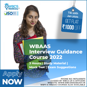 West Bengal Audit And Accounts Service Interview Guidance Course