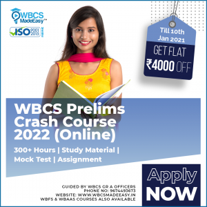 WBCS Prelims Crash Course Fully Online 2022