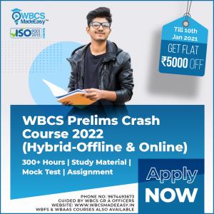 WBCS Prelims Crash Course Online And Offline 2022