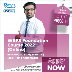 West Bengal Forest Service Exam Fully Online Foundation Course