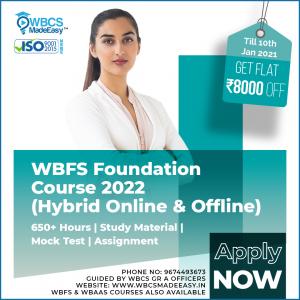 West Bengal Forest Service Exam Online Offline Foundation Course