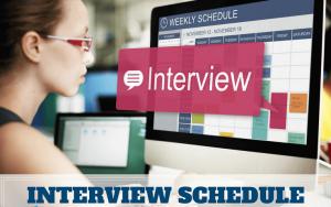 WBCS Interview Schedule