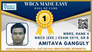 Online Mock Interview of Amitava Ganguly  WBRS Rank 4 WBCS Gr. A 2019 by WBCS MADE EASY