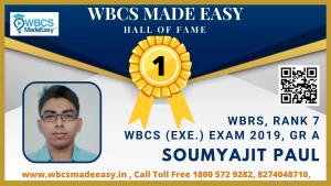 Online Mock Interview of Soumyajit Paul  WBRS Rank 7 WBCS Gr. A 2019 by WBCS MADE EASY