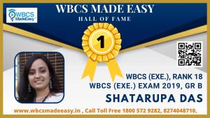 Online Mock Interview of Shatarupa Das WBCS (Exe.) Rank 18 WBCS Gr. A 2019 by WBCS MADE EASY