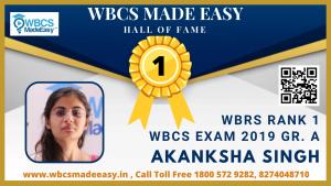 Physical Mock Interview of Akanksha Singh  WBRS Rank 1 WBCS Gr. A 2019 by WBCS MADE EASY