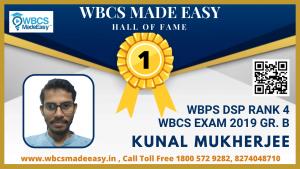 Kunal Mukherjee WBCS 2019
