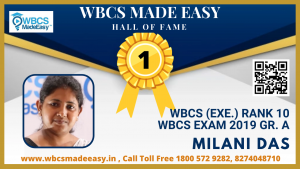 Physical Mock Interview of Milani Das  WBCS (Exe.) Rank 10 WBCS Gr. A 2019 by WBCS MADE EASY